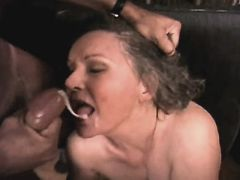 Elder mature has anal n gets facial busty fats