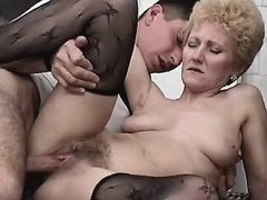 Guy fucks w aged mom in diff poses busty fats