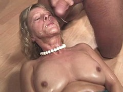 Aged mature fucks and gets facial busty fats