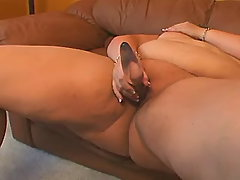Nourished mommy plays with vibrator busty fats