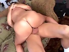 Black fatty with big ass sucks cock and licked busty fats