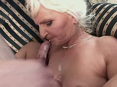 Granny fucks and gets cum in mouse busty fats