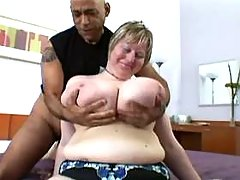 Chubby mature seduces man in bedroom busty fats