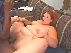 Depraved fat honey fucks with black busty fats