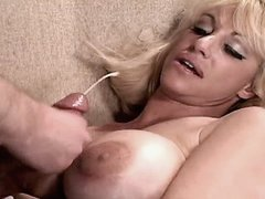 Busty mature gets cumshot on tits busty fats