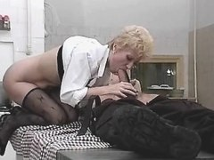 Blonde lewd mature does hpt blowjob busty fats