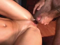 Mature fucks and gets cum on pussy busty fats