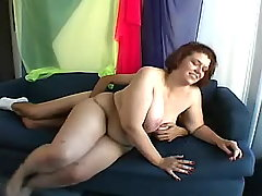 Chubby vixen slurps cum after fucks busty fats