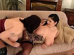 Chubby lesbians presents huge melons busty fats