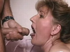 Mature gets cum in mouth after fuck busty fats
