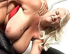 Fat granny with huge melons fucked by guy