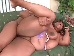 Mega fat ebony fucked by black guy