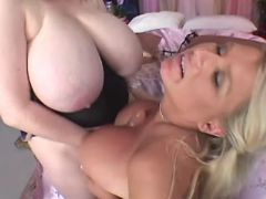 Chubby sluts dildofuck each other busty fats